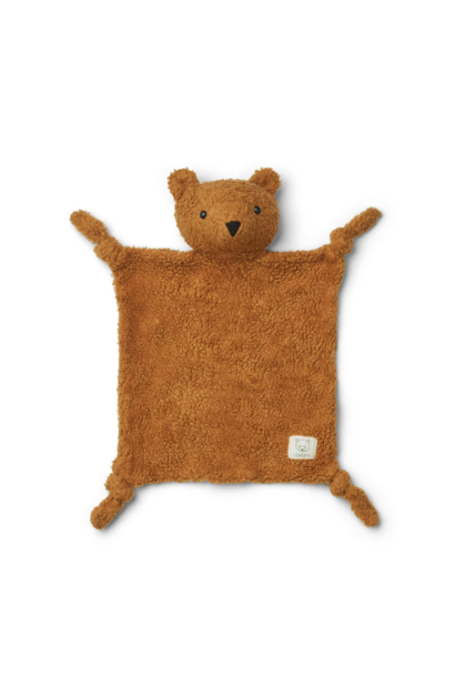 Liewood knuffeldoek lotte mr. bear golden caramel
