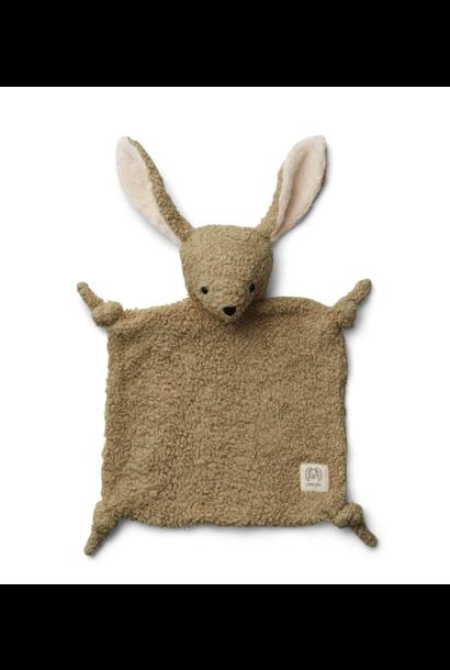 Liewood knuffeldoek lotte rabbit khaki