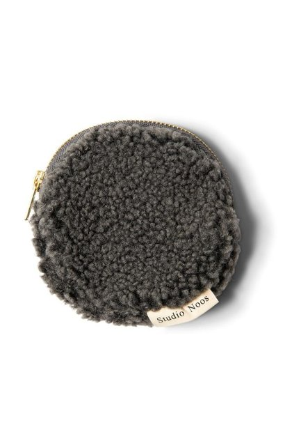 Studio Noos teddy wallet dark grey