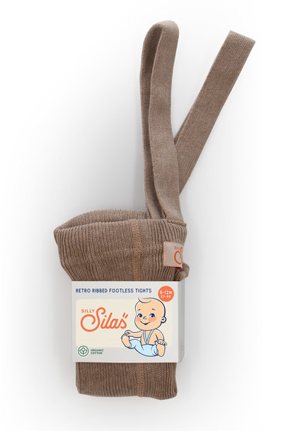 Silly Silas footless tights cacao blend