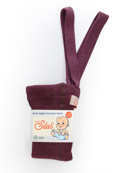 Silly Silas footless tights fig blend