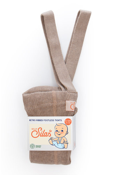 Silly Silas footless tights peanut blend