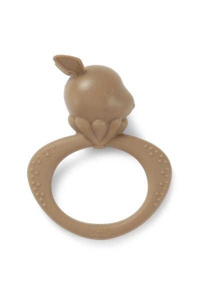 Konges Slojd siliconen bijtring rabbit almond