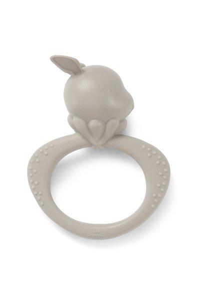 Konges Slojd siliconen bijtring rabbit warm grey