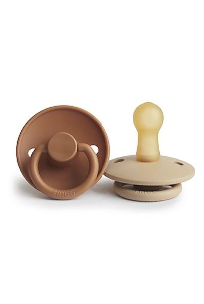 FRIGG fopspeen classic 2-pack cappuccino/croissant T2