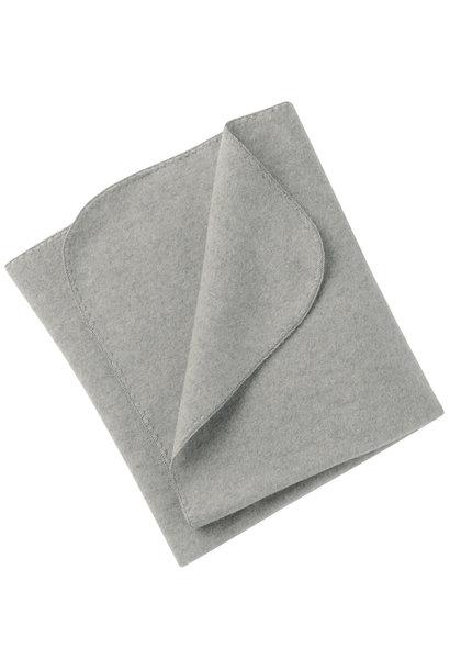 Engel natur baby blanket fleece light grey melange