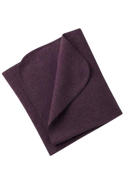 Engel natur wolfleece deken purple melange