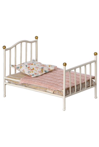 Maileg vintage bed mouse offwhite