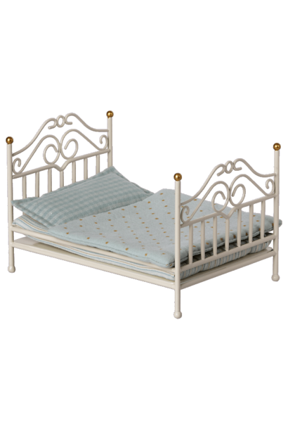 Maileg vintage bed micro offwhite