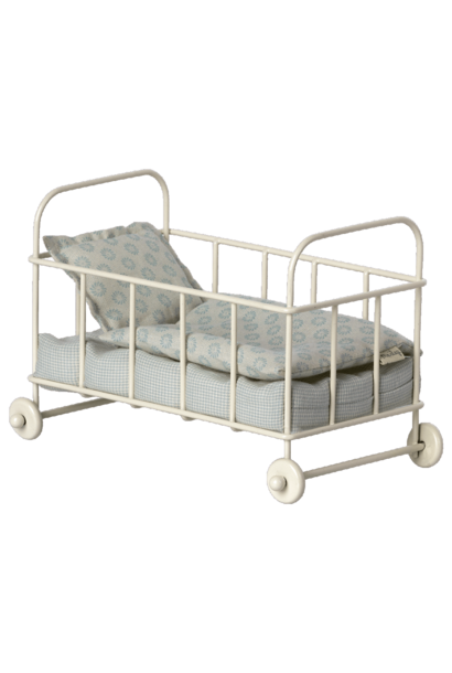Maileg cot bed micro blue