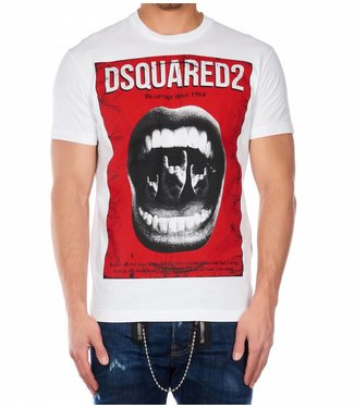 Dsquared2 Dsquared2 : T-Shirt Mouth - White