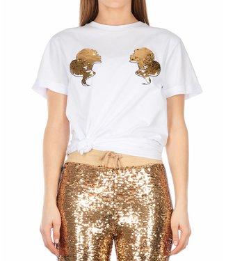 Reinders Reinders : T-shirt Head logo - White