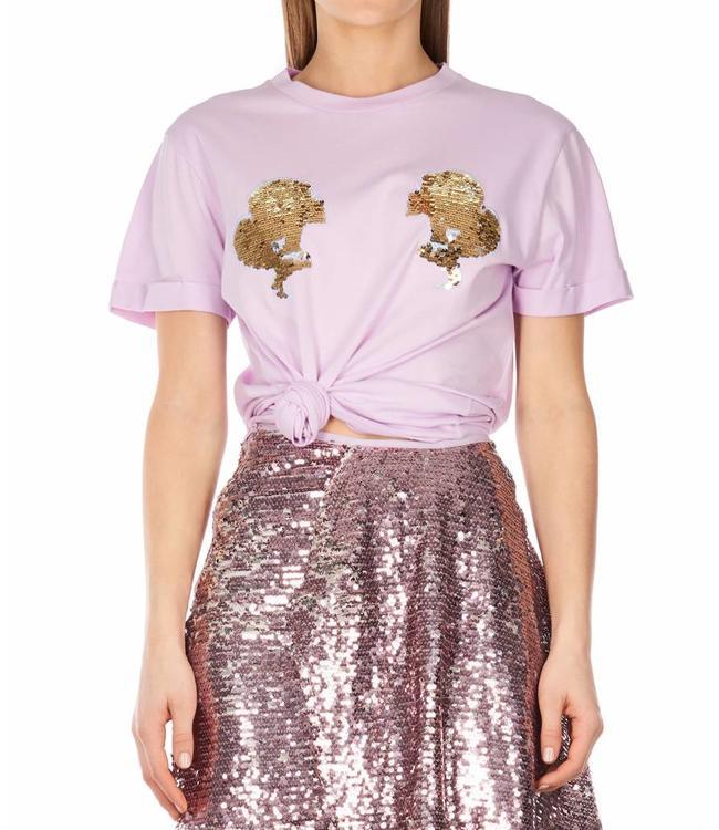 Reinders Reinders : T-shirt Head logo - Purple