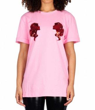 Reinders Reinders : T-shirt Head logo - Prism pink