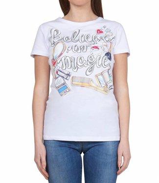 Love moschino Love Moschino : St. Believe in magic - White