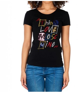 Love moschino Love Moschino : T-shirt Think love - Black