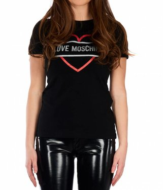 Love moschino Love Moschino : T-shirt St logo core - Black
