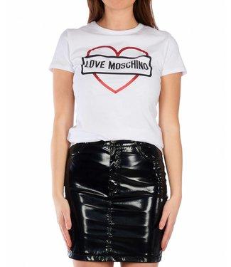 Love moschino Love Moschino : T-shirt St logo core - White