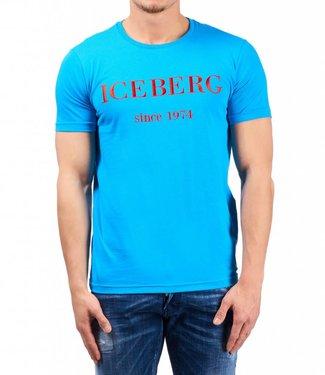 ICEBERG Iceberg : Logo T-shirt - Light blue