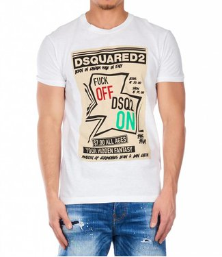 Dsquared2 Dsquared2 : T-shirt F.OFF DSQ2.ON - White