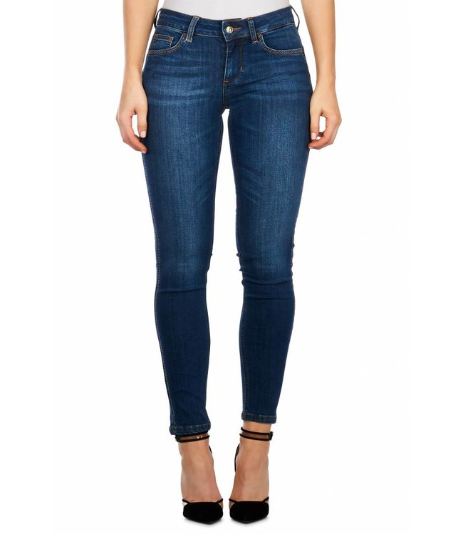 LiuJo LiuJo : Jeans Bottom up Strass - Blue