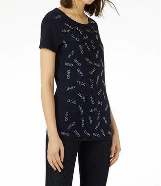 LiuJo LiuJo : T-shirt Strass - Blue