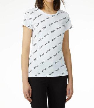 LiuJo LiuJo : T-shirt Strass - White
