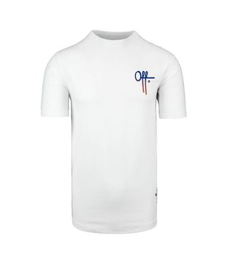 Off the Pitch OTP : T-shirt Full stop - White