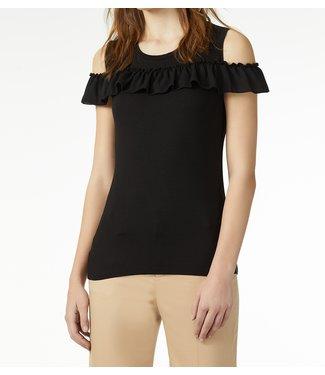 LiuJo LiuJo : T-shirt ruffle Black