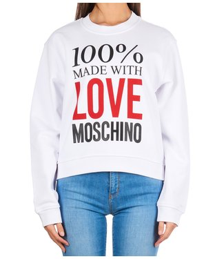 Love moschino Love Moschino : Sweater 100% love White
