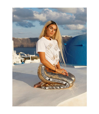 Reinders Reinders : T-shirt all over sequins White/Gold