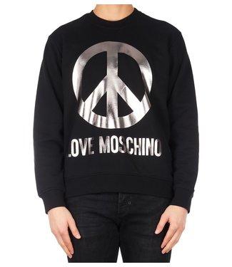 Love moschino Love Moschino : Sweater logo peace Black