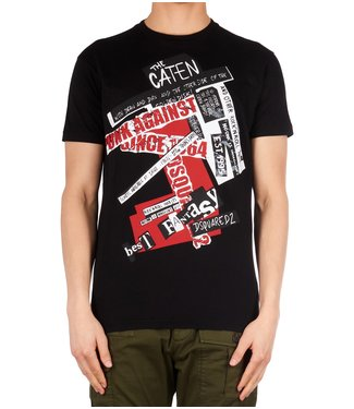 Dsquared2 Dsquared2 : T-shirt punk against Black
