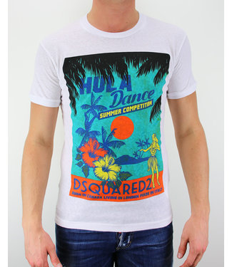 Dsquared2 Dsquared2 : T-shirt Hula dance White