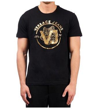 Versace Jeans couture Versace jeans : T-shirt  foil print Black