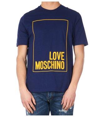 Love moschino Love Moschino : T-shirt logo box Blue
