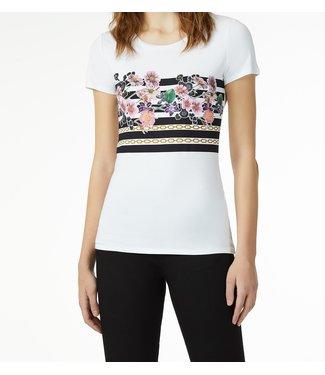 LiuJo LiuJo: T-shirt flower stripes White