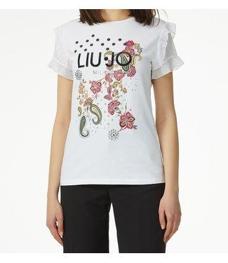 LiuJo LiuJo :T-shirt flower strass White