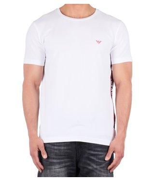 Empori armani Emporio armani : T-shirt tape logo White