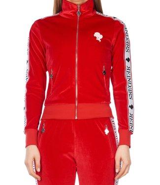 Reinders Reinders : Tracking suit velvet Red-