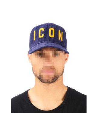 Dsquared2 Dsquared2 : Cap dsq2 Icon Rib Blue/Yel