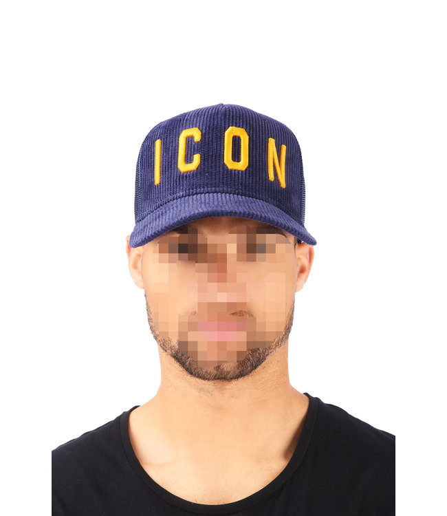 Dsquared2 Dsquared2 : Cap dsq2 Icon Rib Blue/Yel