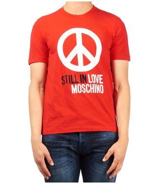 Love moschino Love Moschino : T-shirt peace logo Red