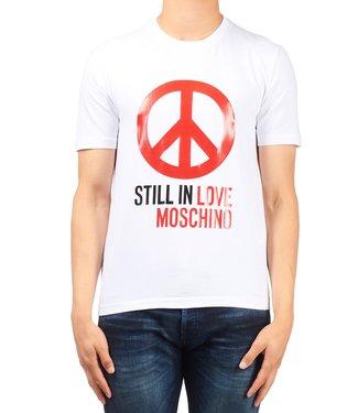 Love moschino Love Moschino : T-shirt peace logo White