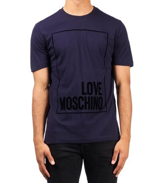 Love moschino Love Moschino : T-shirt Box logo Navy