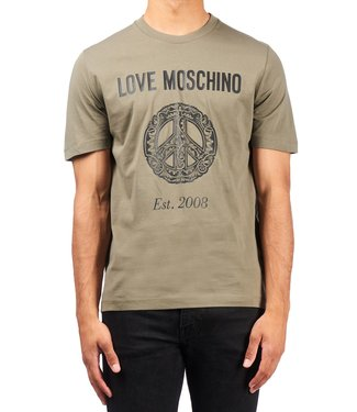 Love moschino Love moschino : T-shirt Peace Logo Green