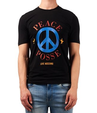 Love moschino Love moschino : T-shirt Peace Logo Black