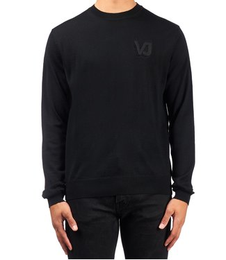 Versace Jeans couture Versace Jeans : Sweater Logo cotton Black-
