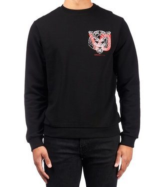 Versace Jeans couture Versace Jeans : Sweater Logo cotton Black