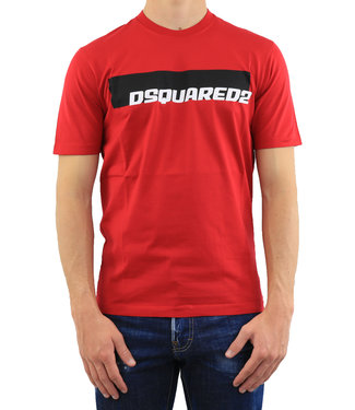 Dsquared2 Dsquared2 : T-shirt Logo Red-S71GD0762